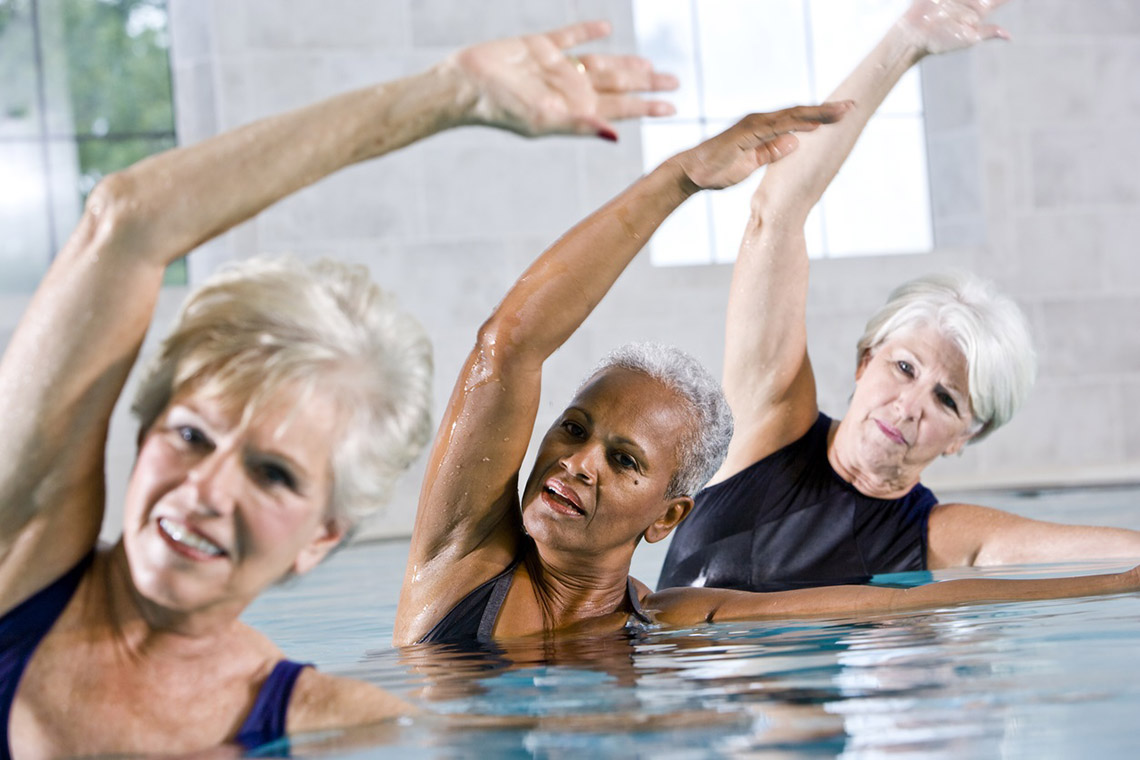 Photo of women doing aquafit