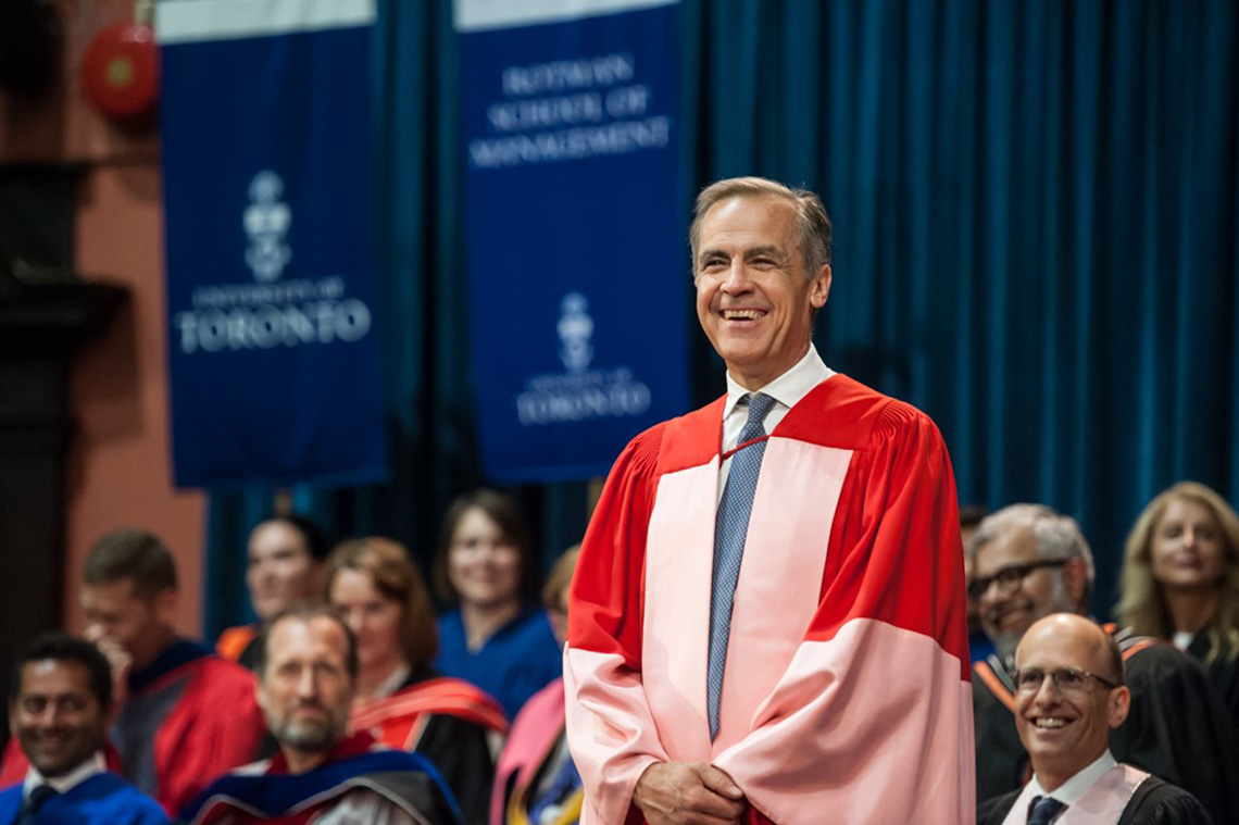 Photo of Mark Carney at convocation