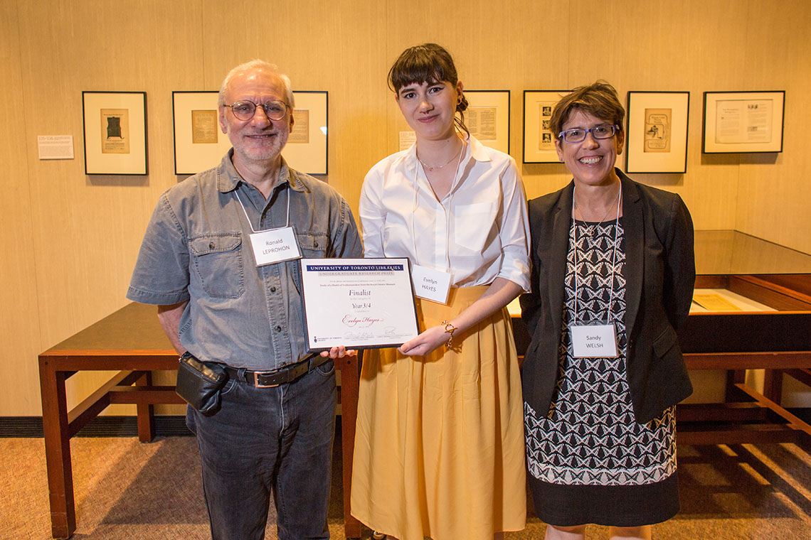 Photo of winners of library research prize
