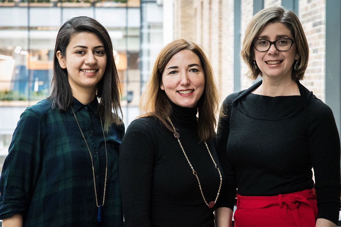 photo of Yasaman Aghazadeh, Cristina Nostro and Sara Vasconcelos