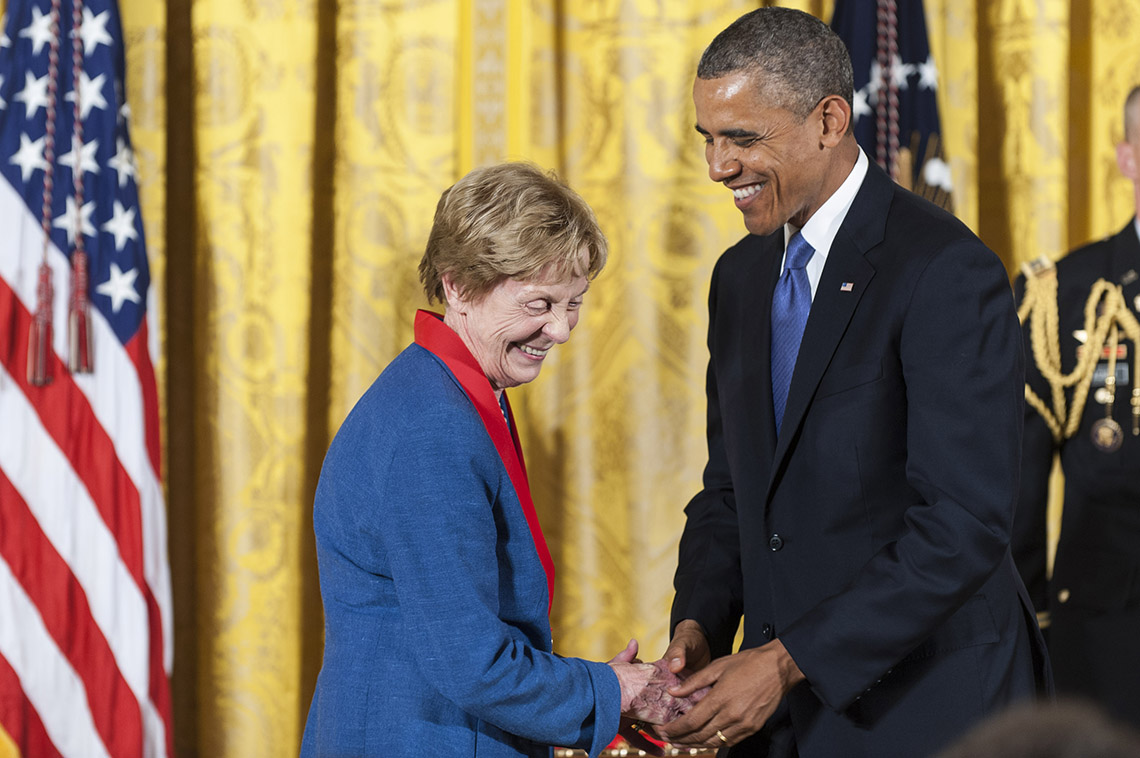 Photo of Jill Ker Conway and Barack Obama