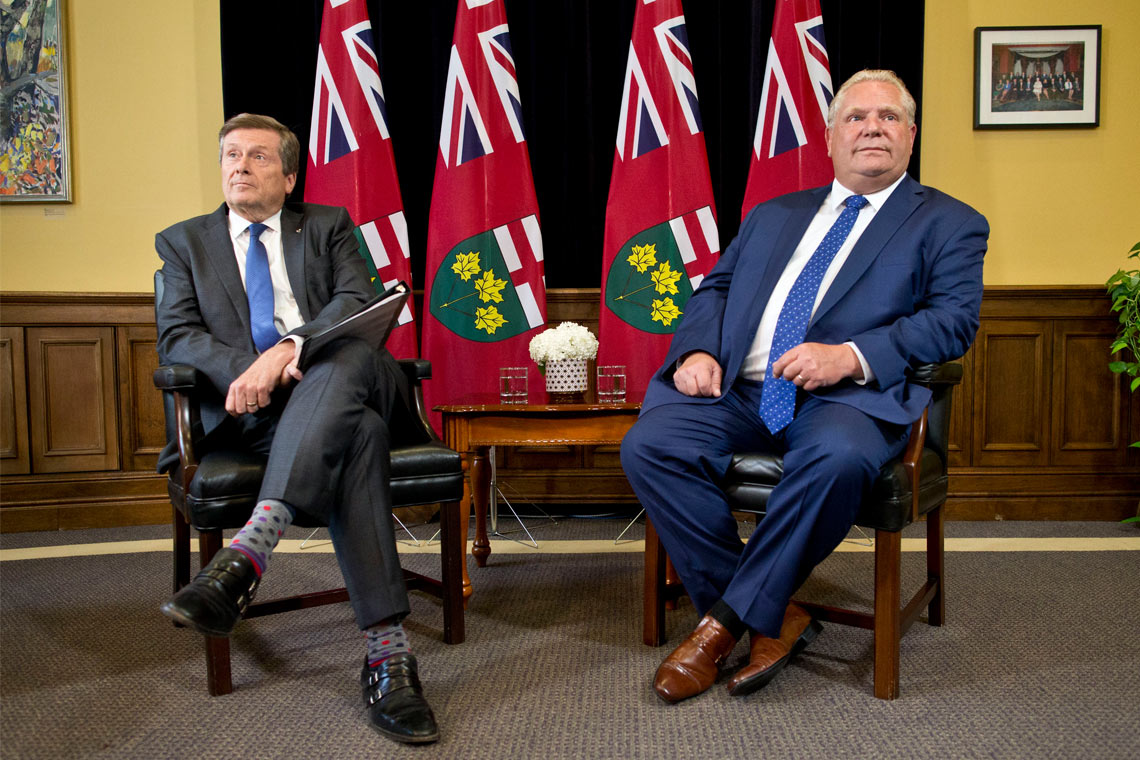Photo of John Tory and Doug Ford