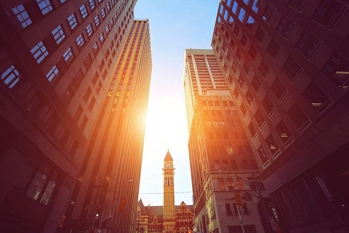 Photo of sun shining in Toronto