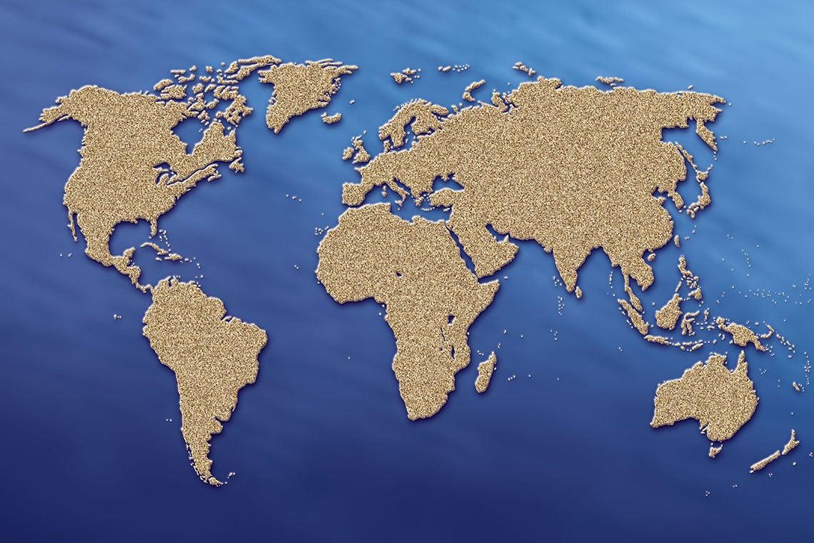 Photo of world map