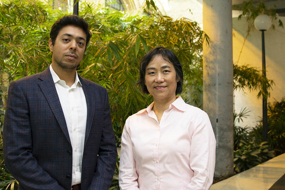 Photo of Mohammad Ali Amini and Xiao Yu (Shirley) Wu
