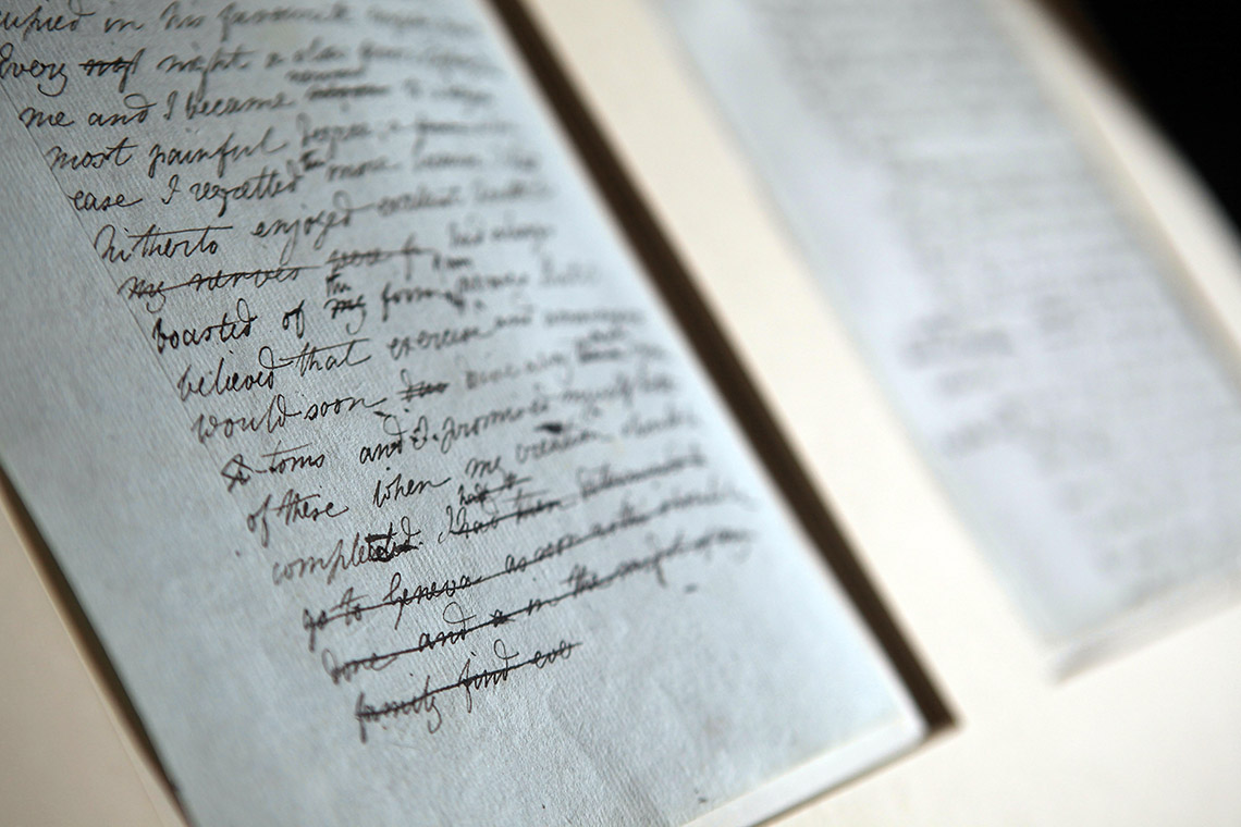Photo of Frankenstein manuscript