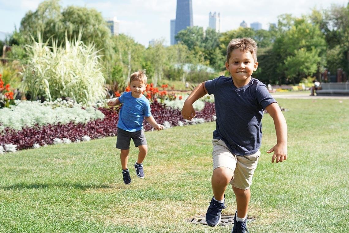 Photo of boys running