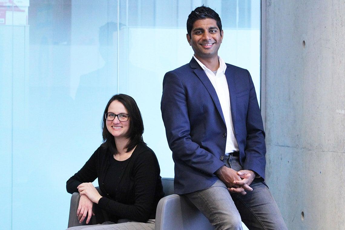 Nicole Sultanum and Dr. Devin Singh