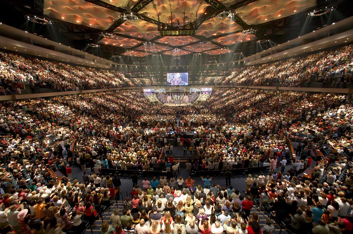 Photo of Lakewood Church worship