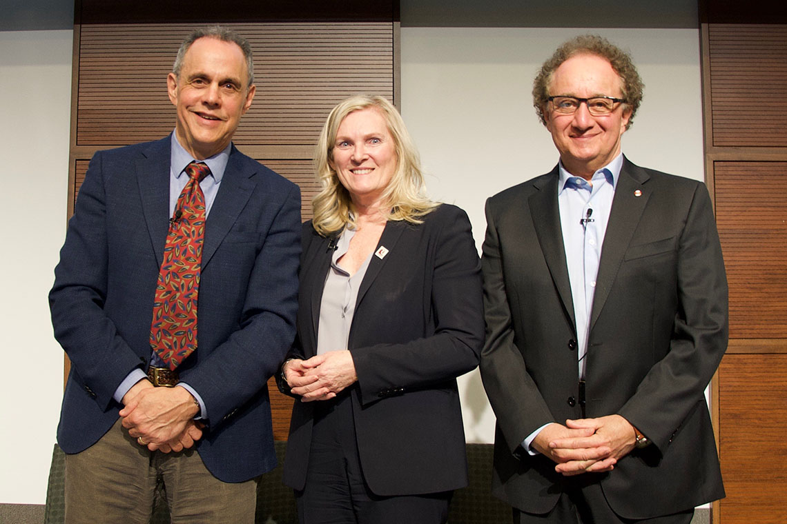 Photo of Keith Neuman, Rhonda Lenton and Robert Brym
