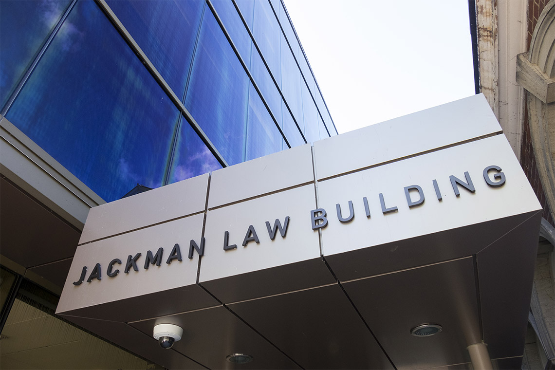 Photo of Jackman Law Building sign