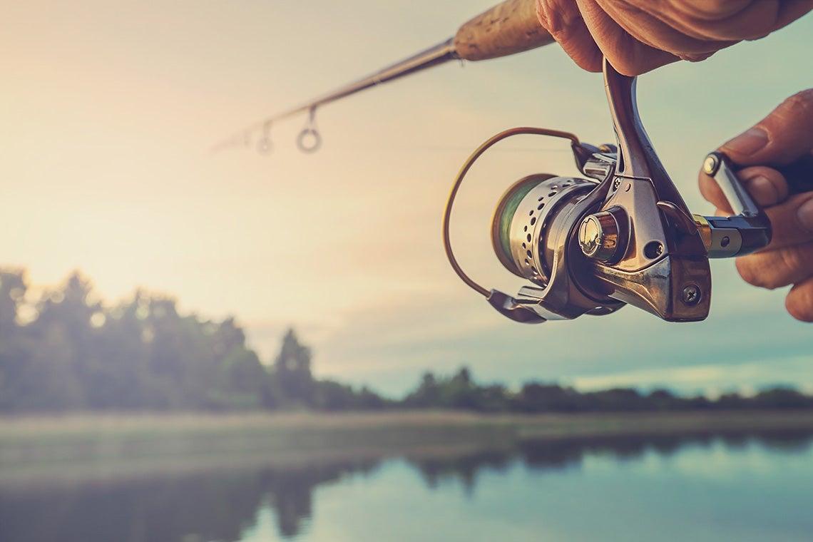 Photo of someone fishing