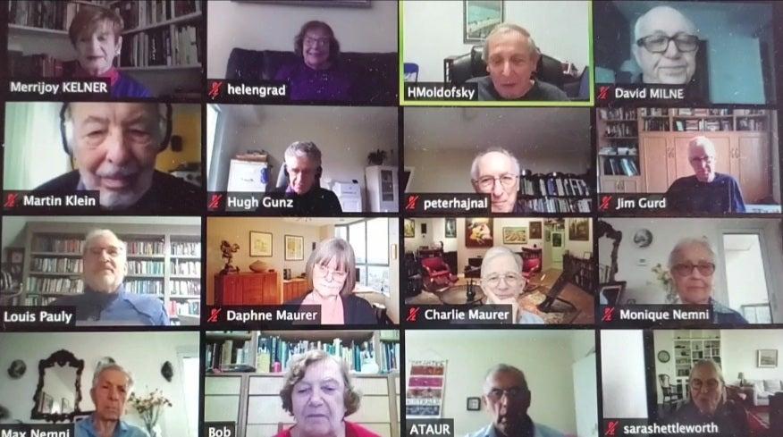 The Senior College book club meets online through Zoom