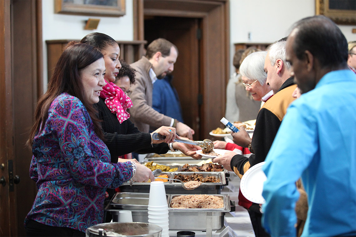 Attendees are served lunch during a previous Black History Month Luncheon event at U of T