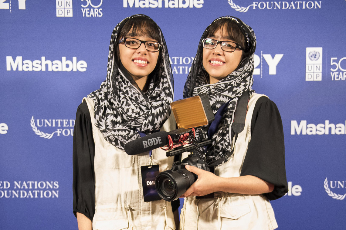 Nivaal Rehman (left) and Maryam Rehman (right), are attending the summit for the first time