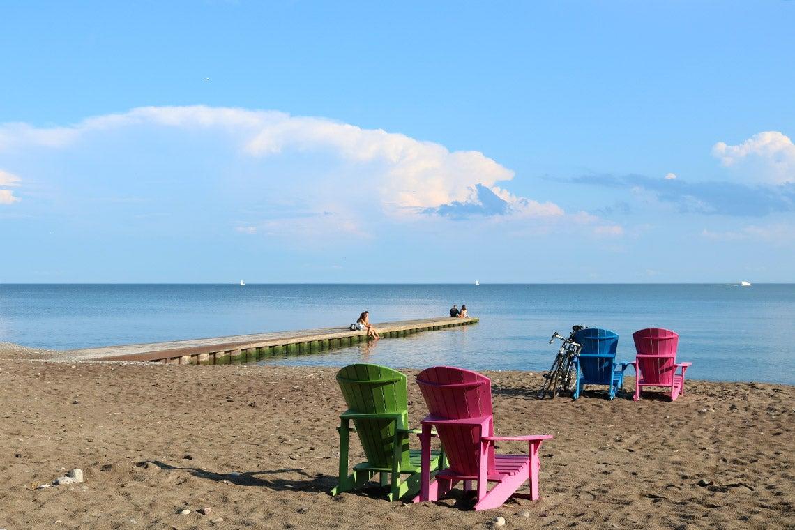 Toronto beach on a sunny summer day