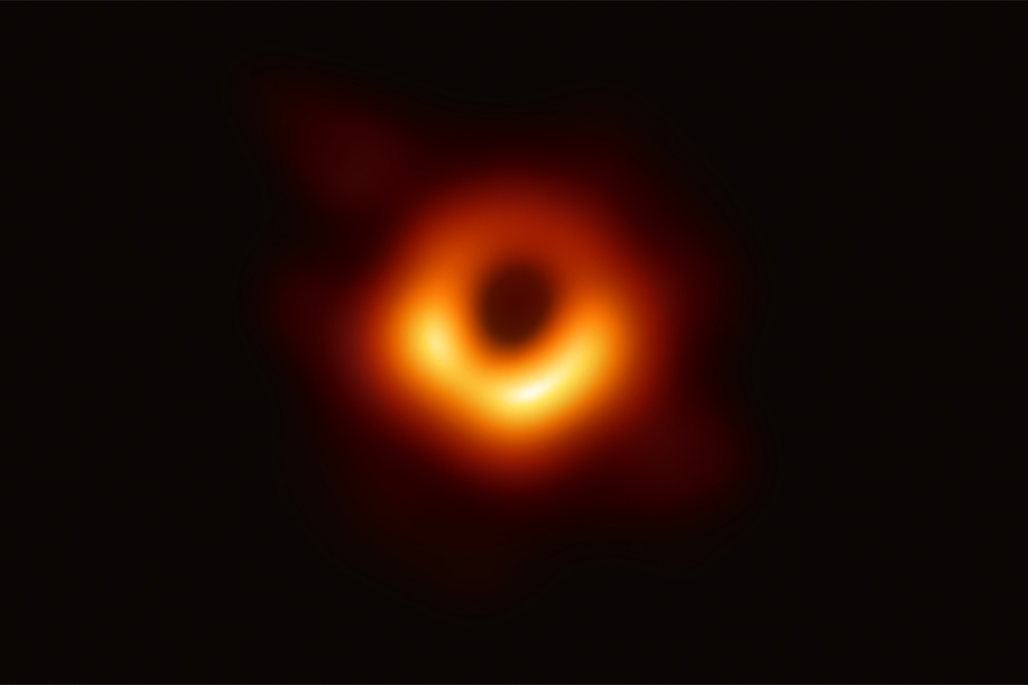 Photo of a black hole at the centre of the Messier 87 galaxy