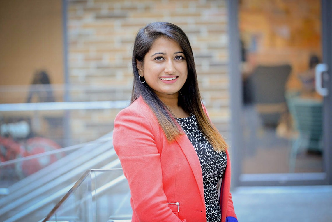 Aditi Bhargava and her lucky salmon pink blazer
