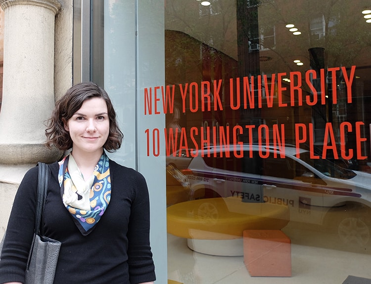 Ailis Cournane at NYU picture
