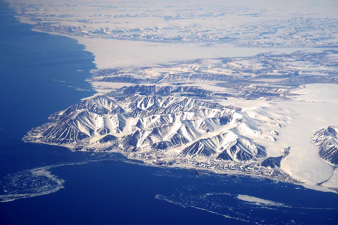 aerial photo of Nunavut