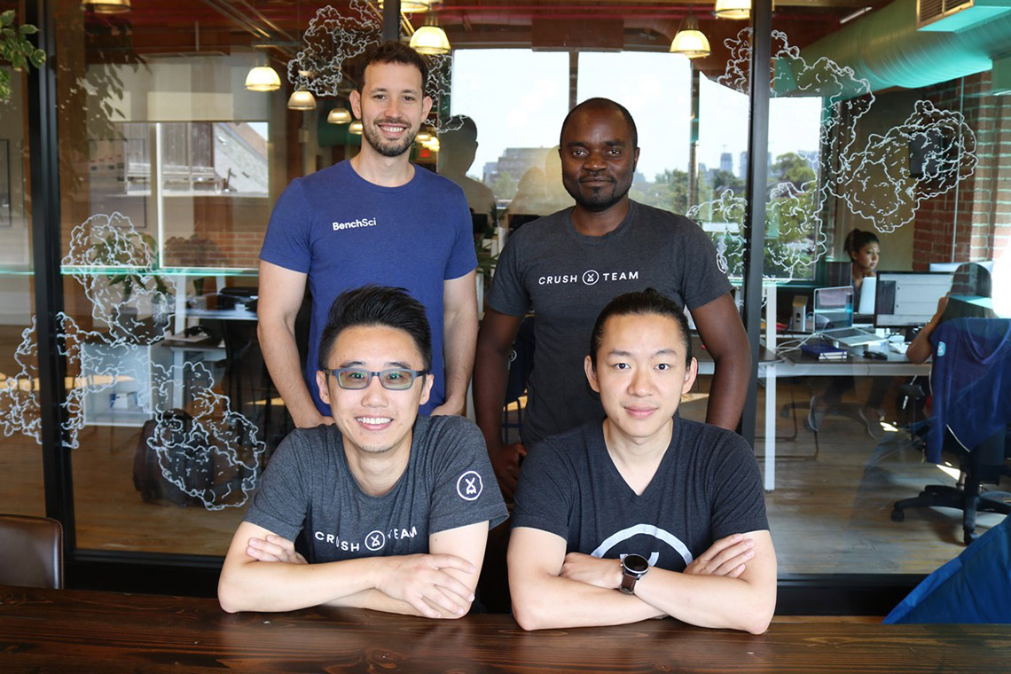 Photo of BenchSci's four founders