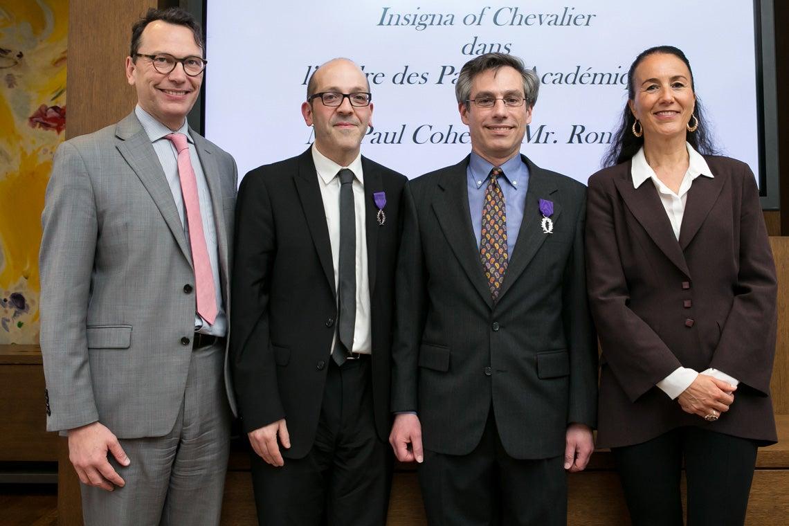 Photo of Mark Trouyet, Ron Levi, Paul Cohen and Brigitte Proucelle