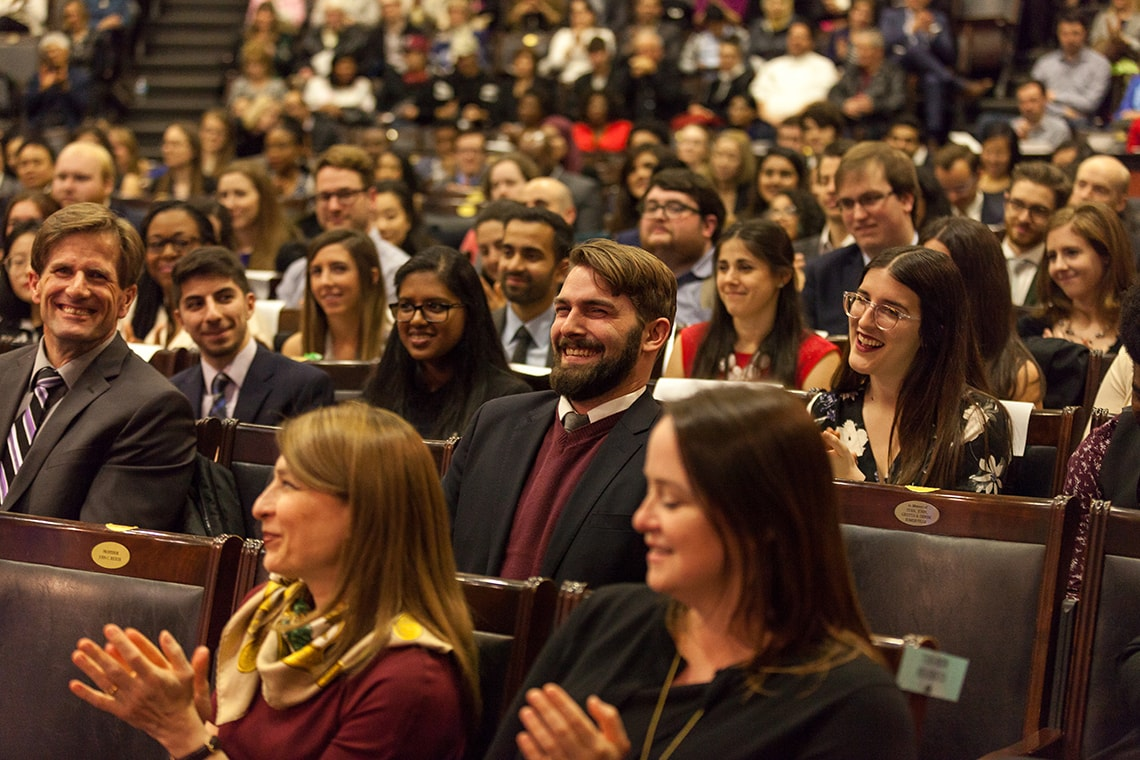 Crowd photo of Cressy Award ceremony