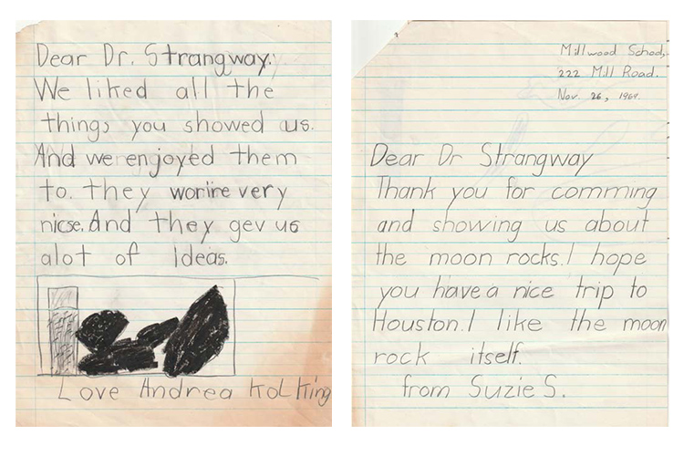 Letters written to David Strangway
