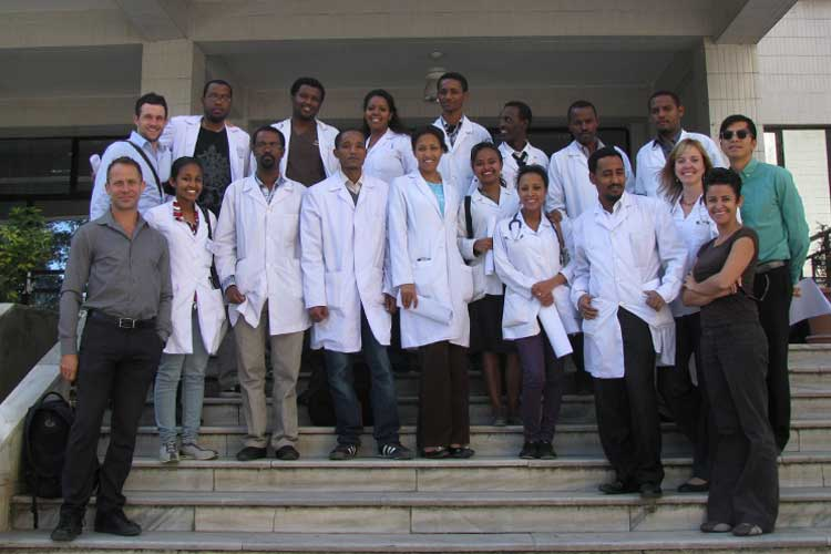 Emergency medicine students in Ethiopia