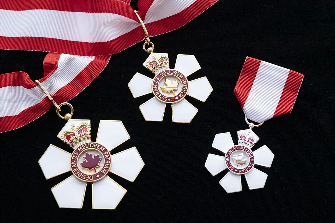 Order of Canada insignia on a black background