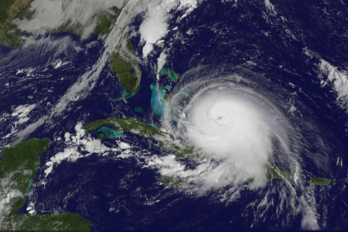 Hurricane Joachin seen from space