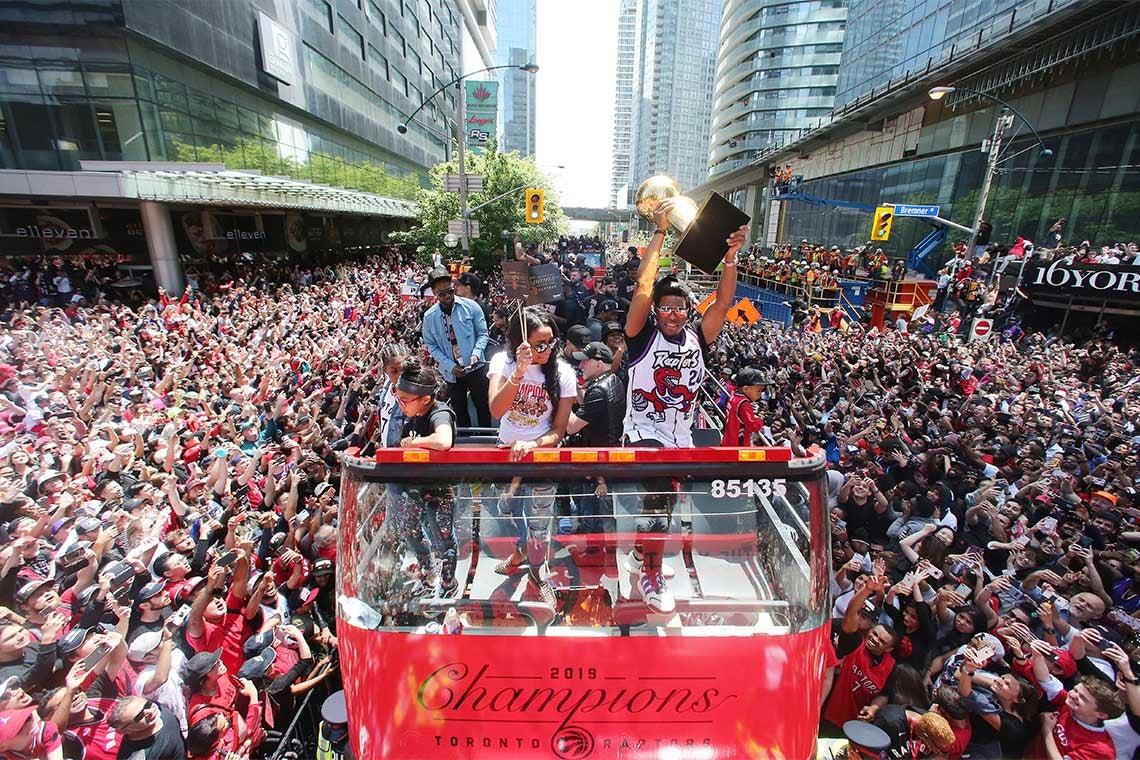 Photo of Raptors parade