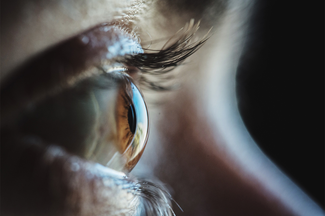 Close up of a woman's eye in profile