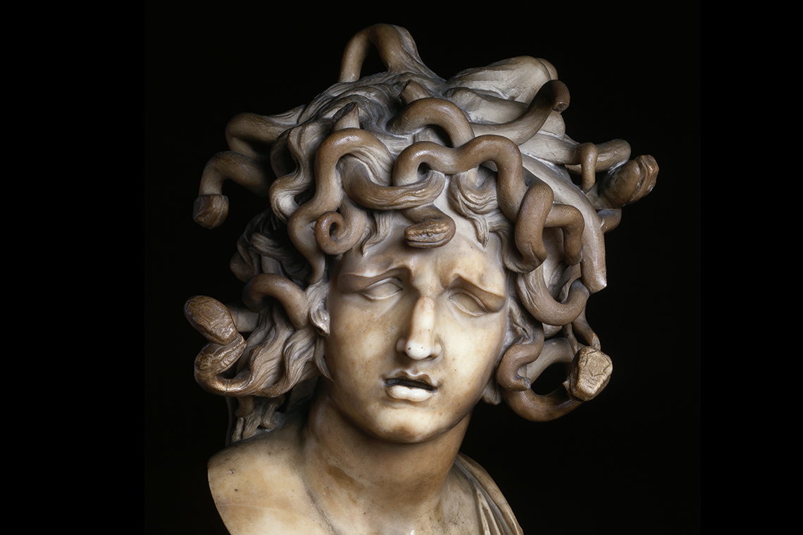 Head of Medusa marble bust by Gian Lorenzo Bernini