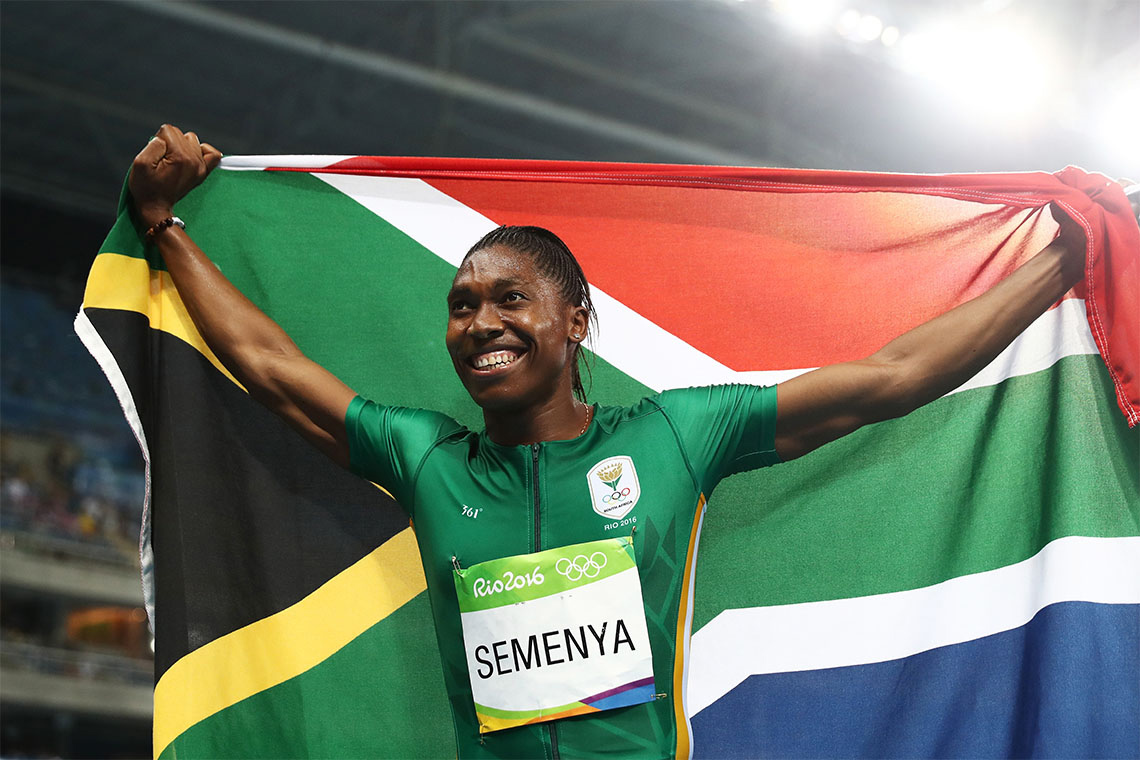 photo of Caster Semenya at the Rio Games