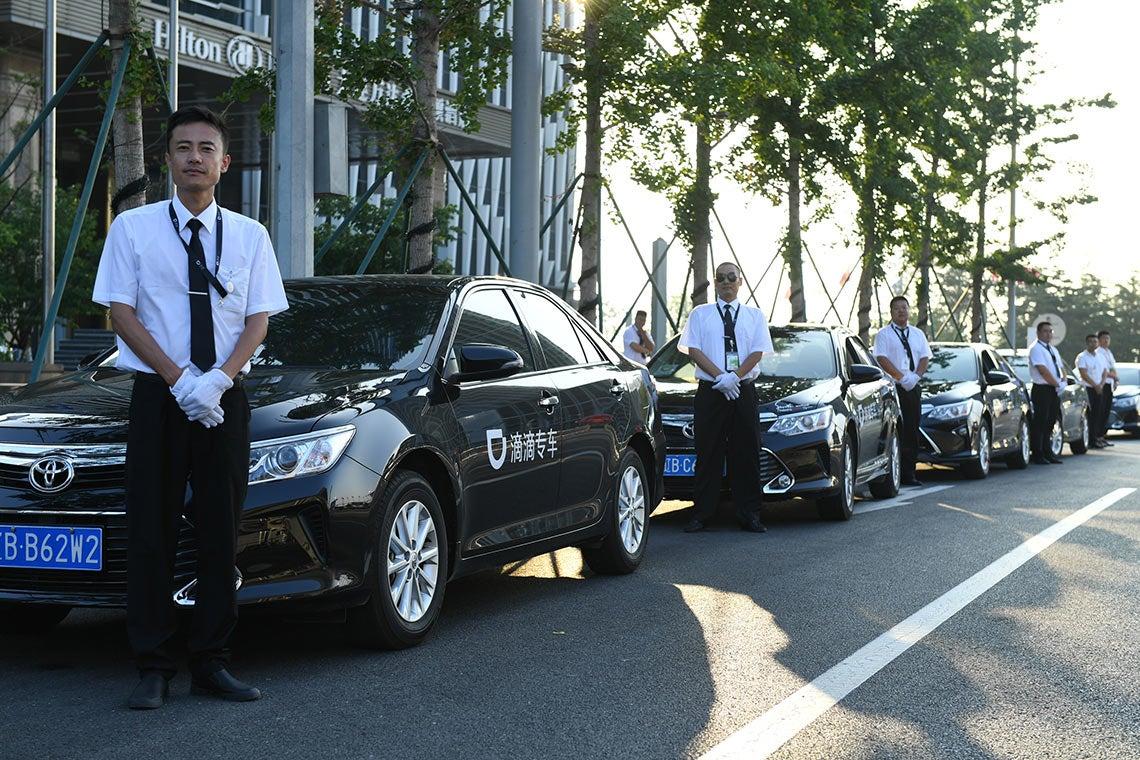 Photo of Didi Chuxing vehicles