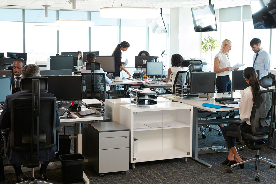 Photo of workers in an office