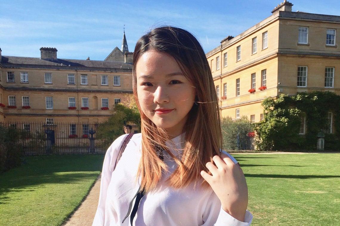 Juliana Lee photographed at Oxford