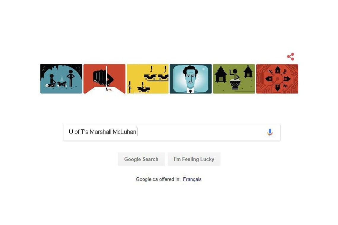 McLuhan Google Doodle
