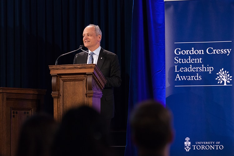 Photo of Meric Gertler at Cressy Award ceremony