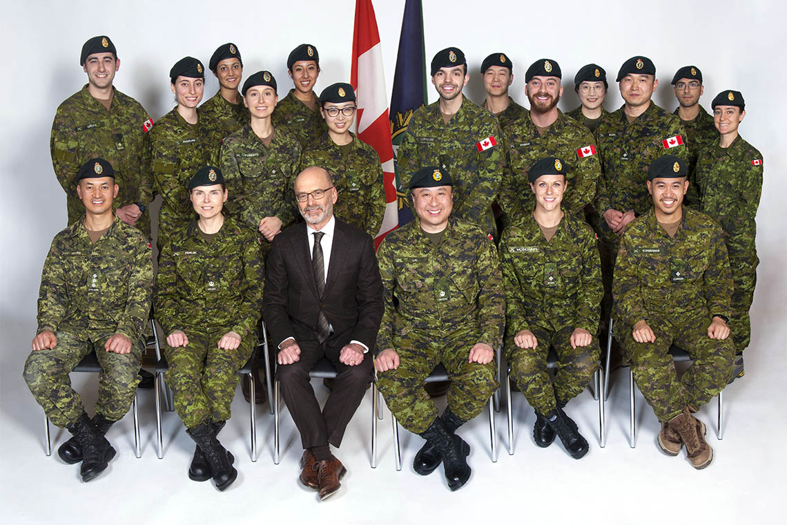 Faculty of Dentistry group photo of military graduates
