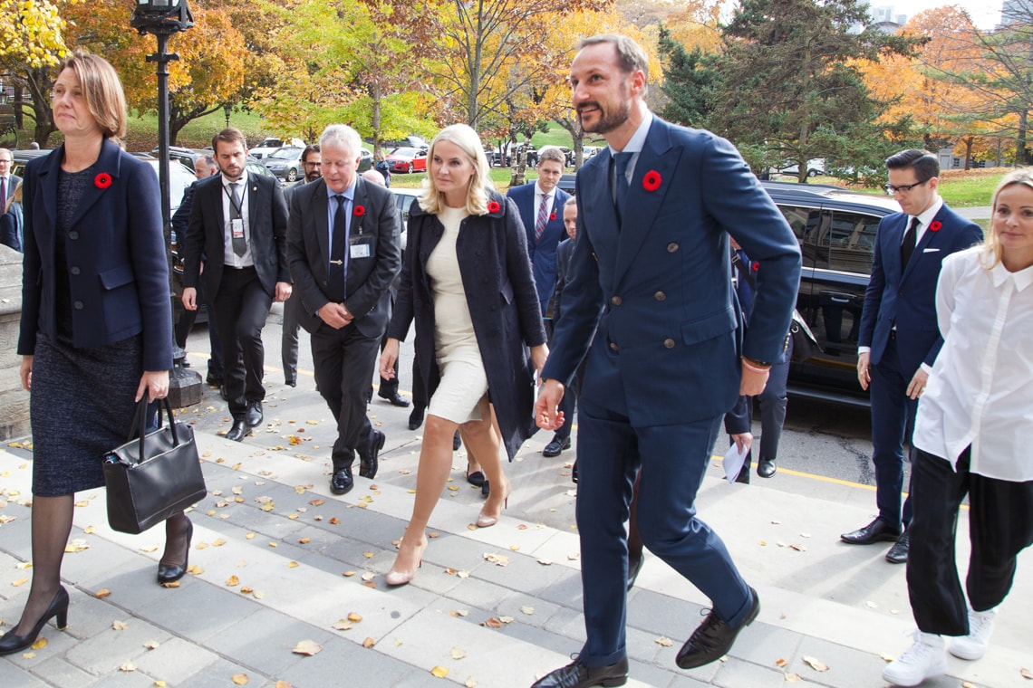 Norway's crown prince and princess visit U of T's Hart House
