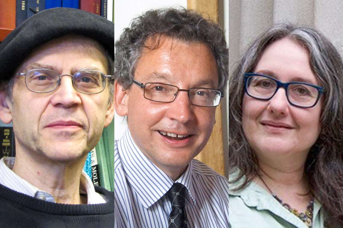Composite photo showing from left to right Paul Brumer, David Dyzenhaus and Naomi Seidman