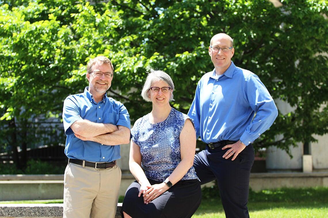 photo of Paul Gries, Karen Reid and Michael McCarthy