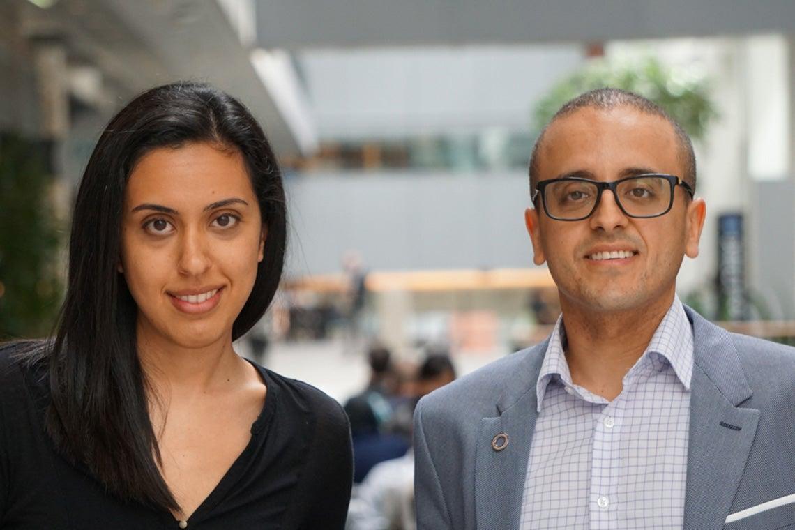 photo of Roxanne Oshidari and Karim Mekhail