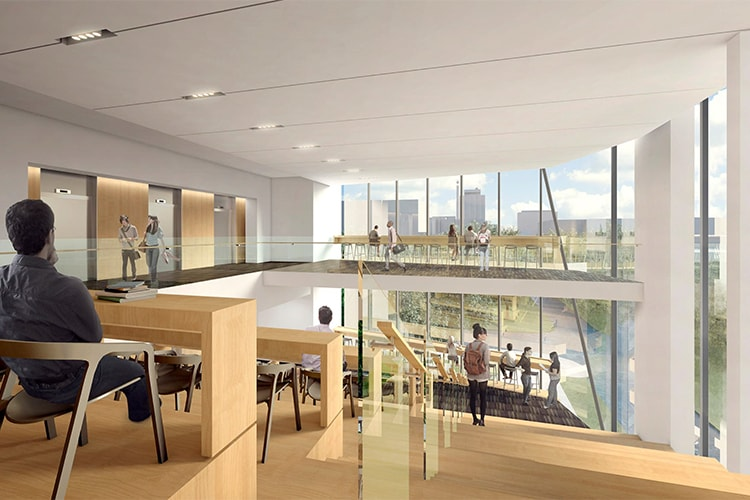 Rendering of study spots in Robarts Common