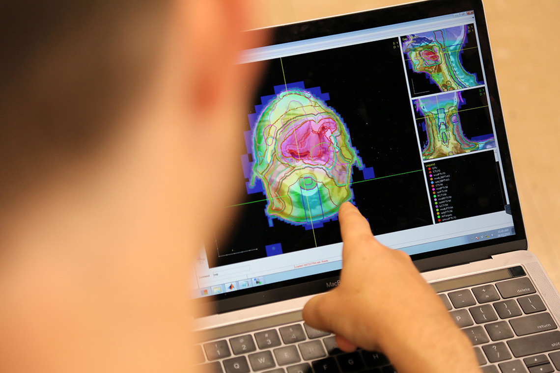 Photo of AI-enabled tool being used on a laptop