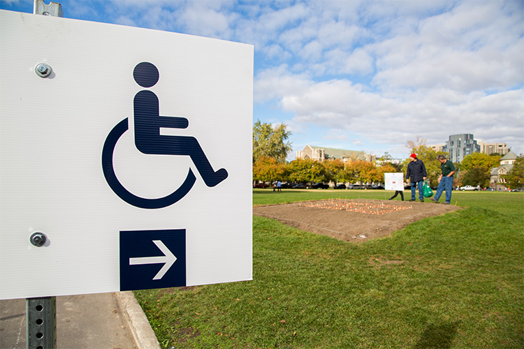 Wheelchair access sign