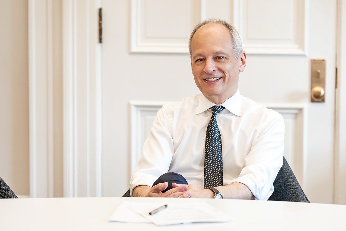 Photo of U of T President Meric Gertler