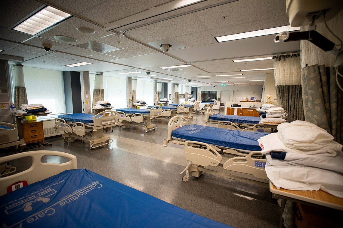 Photo of beds at the Faculty of Nursing